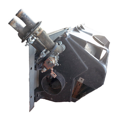 Heater box and fan