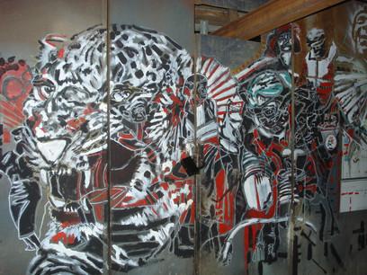 live art painting,Florentin,Israel ,2009