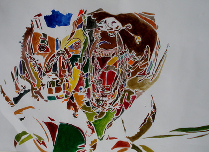 Mamabear, watercolor on paper,40/30cm,2009