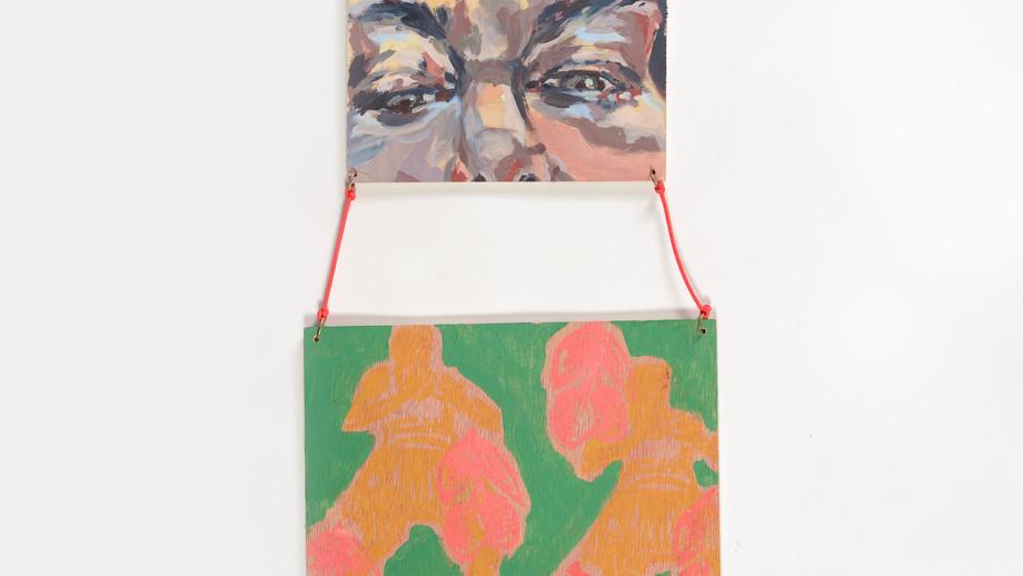 Downers#2,acrylic on wood,20/40 cm,2020