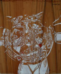 the fisherwoman,acrylic on formayka, 60/90 cm, 2009