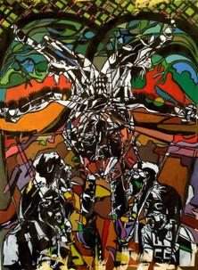The circle,acrylic on canvas,80/100cm,2010