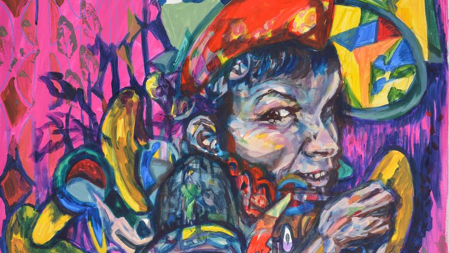 Nadine,acrylic on canvas,60/80cm,2019