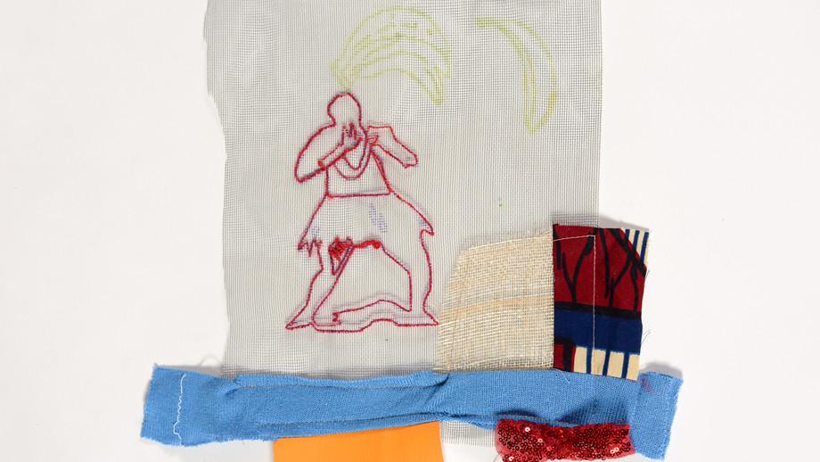 Bananaz,mixed mediaon textile,22/24cm,2020