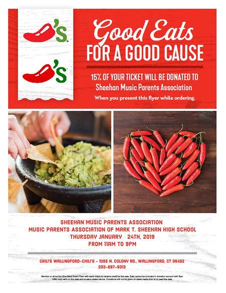 Chilis Restaurant Give Back Night Flyer.
