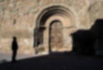 Portal románico de Sant Miquel, en Castelló de Farfanya (Noguera)
