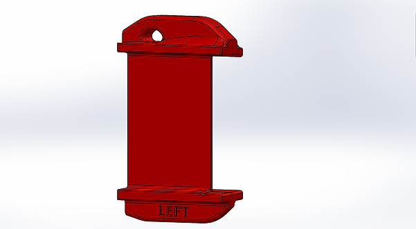 Elevator Gust Lock Set RV-10, Custom Printed