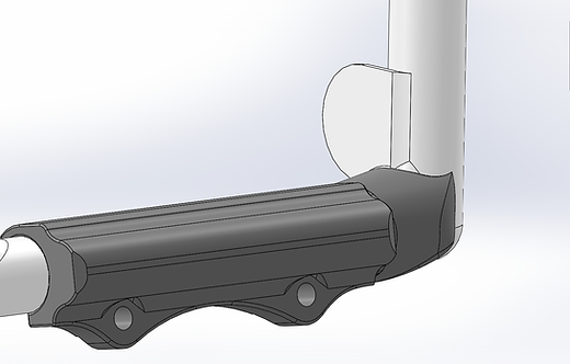 RV7 - RV9 Round Rudder Pedal Extensions