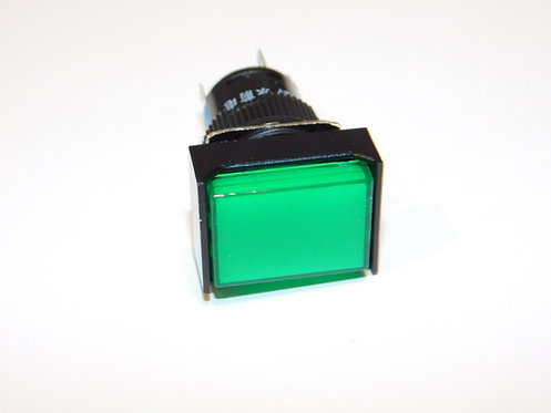 12V Push Button LED Annunciator Panel Replacement 16mm light (Green)