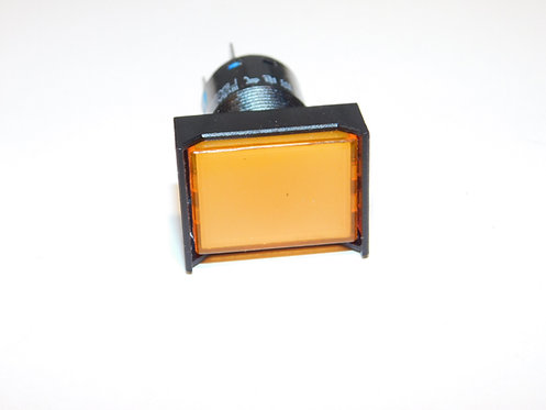 12V Push Button LED Annunciator Panel Replacement 16mm light (Orange)