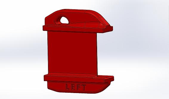 Elevator Gust Lock Set RV-7, Custom Printed