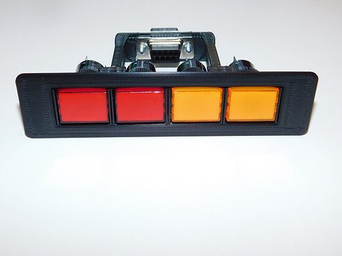 12V Push Button LED Annunciator Panel (16mm lights)