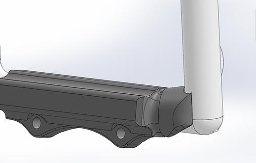 RV7 - RV9 Flat Rudder Pedal Extensions