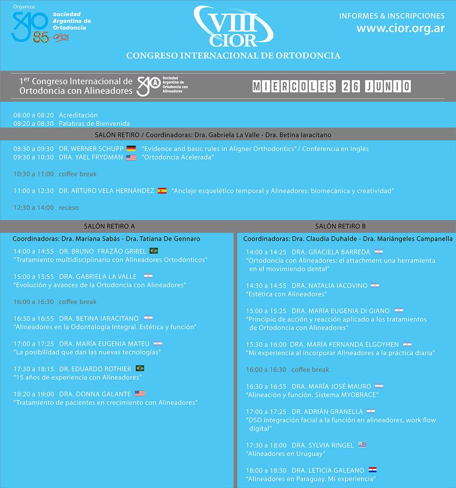 1º Congreso Internacional de Ortodoncia con Alineadores de SAOA