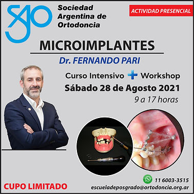 Workshop Microimplantes Dr. Pari AGOSTO.