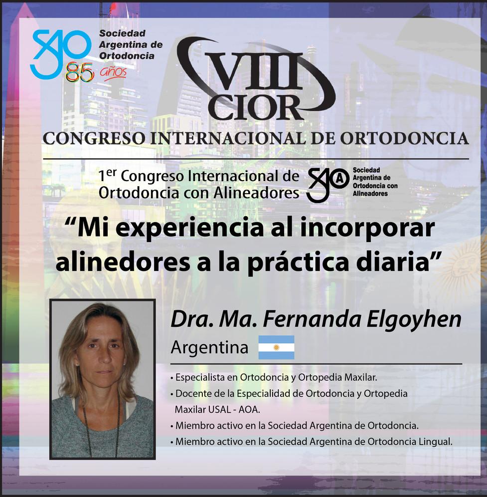 Dra. María Fernanda Elgoyhen