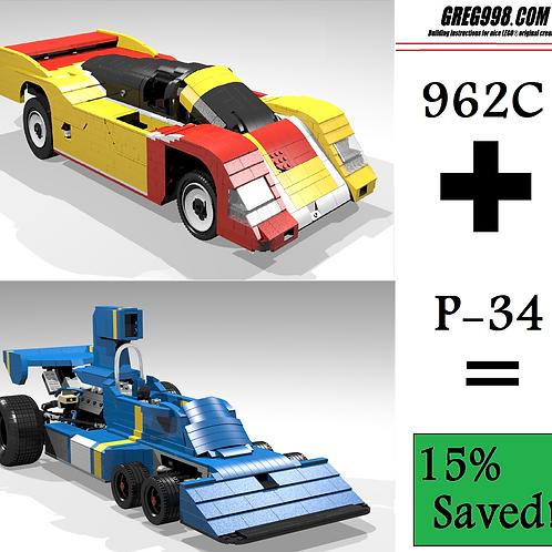 EPIC PACK: 962C & P34 racecar (pack of 2)