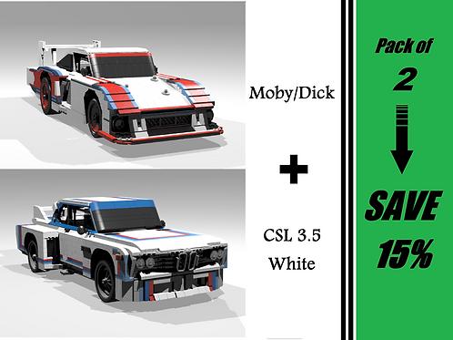 HYPER GT PACK: Moby/Dick & CSL 3.5 White