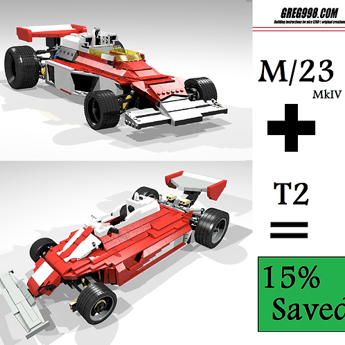 HERO PACK: M/23 and T2 racecar (pack of 2)