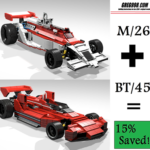 ADVANCED PACK: M/26 and BT/45 racecar (pack of 2)