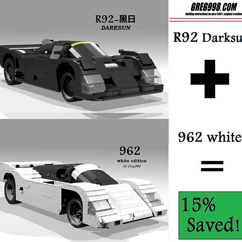 Black&White PACK: 962c White & R92 dark (Pack of2)