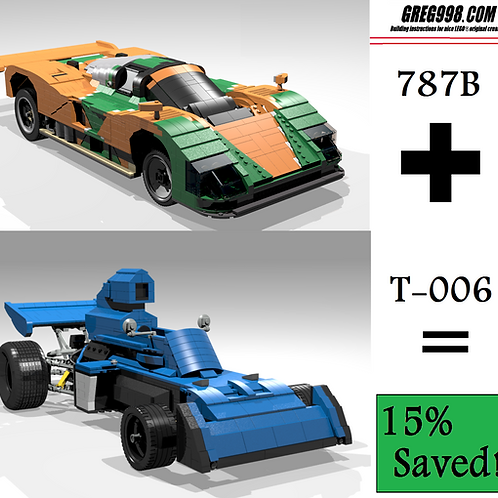 TECHNO PACK: 787B & T-006 (Pack of 2)