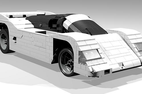 "962 ""White edition"" sportscar"