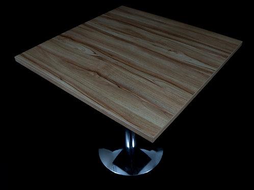 Mesa tampo quadrado pé cromado