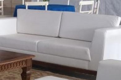 Sofá Branco Couro
