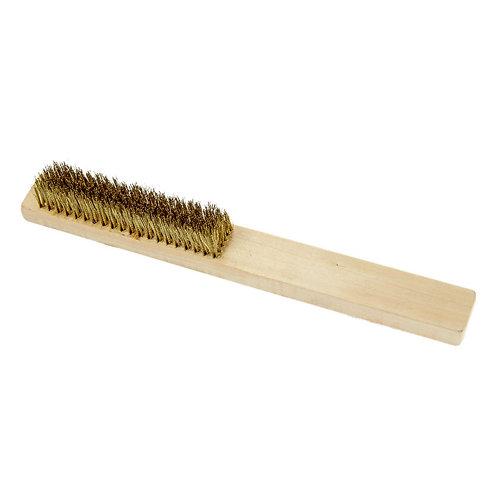 Cepillo bronce mango madera