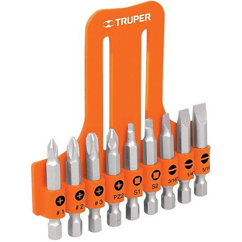 Juego puntas de destornillador Truper