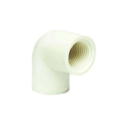 Codo roscado 1/2 x 90° presión