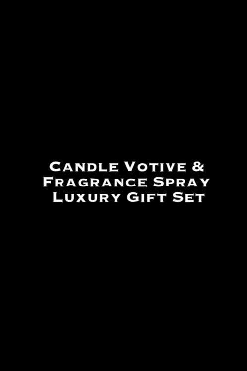 Candle Votive & Room Fragrance Spray Luxury Gift Set