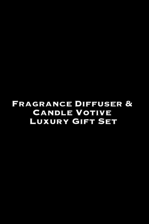 Fragrance Diffuser & Candle Votive Luxury Gift Set