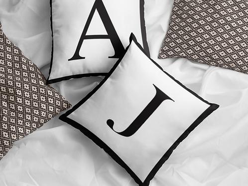 Initial Alphabet Cushion Cover
