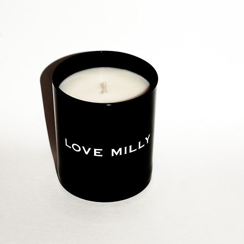 The Original Love Milly Candle - Soy Wax Blend (Black Votive)