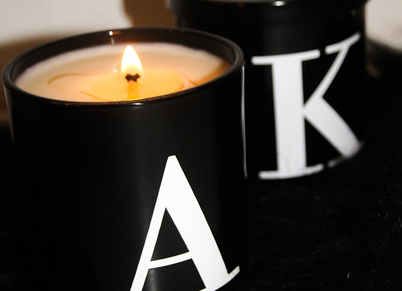 Large Soy Wax Alphabet Candle