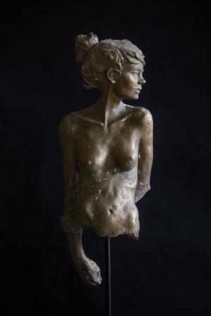 sculpture bronze l'attente Renoit Redard
