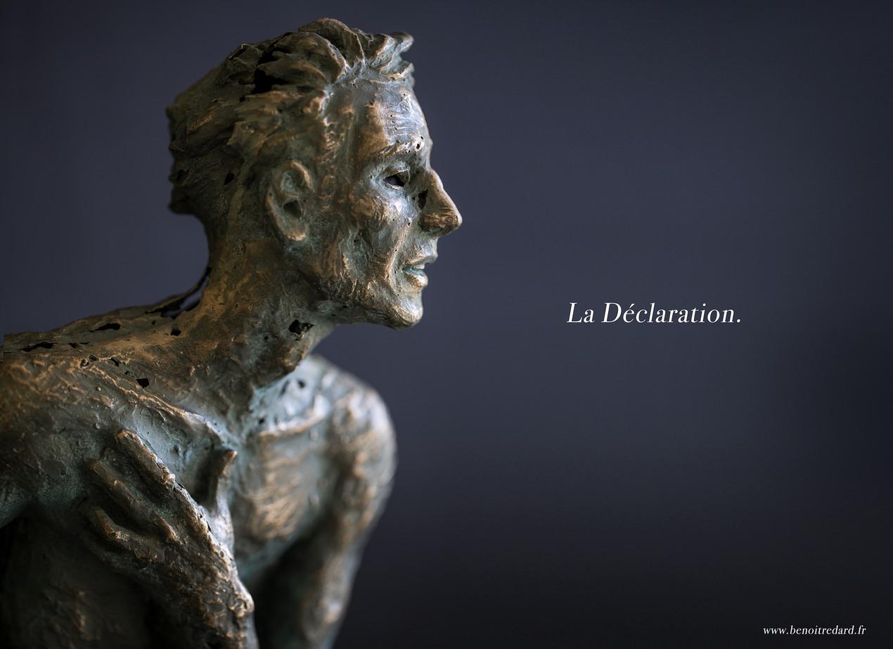 La déclaration sculpture avignon benoit redard