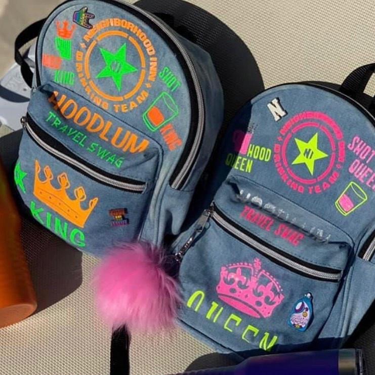 Mini Denim Swag Bag