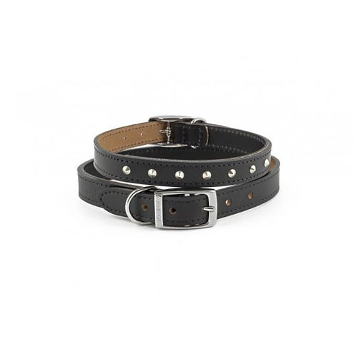 Ancol Classic Leather Studded Collar