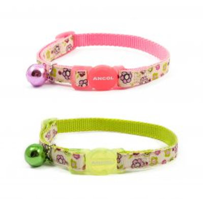 Ancol Safety Buckle Cat Collar Flowers