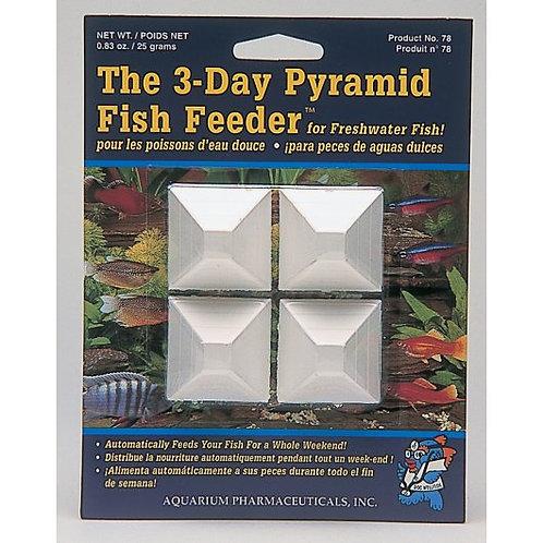 Aquarian The 3 Day Pyramid Fish Feeder