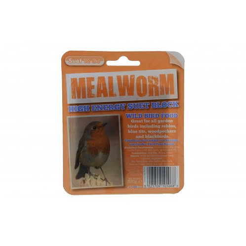 Suet to Go Block in Tray - Mealworm