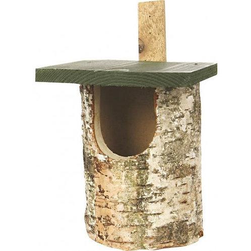 National Trust Birch Log Nest Box Open