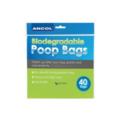 Ancol Bio-degradable Waste Bags 40 Bags