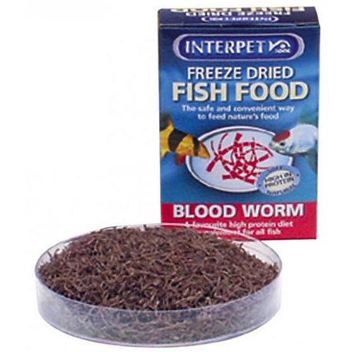 Freeze Dried Food Bloodworm 4g
