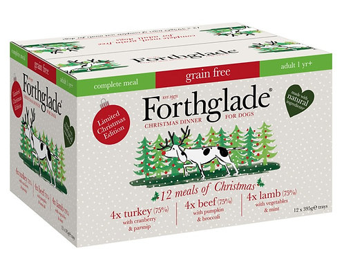 Forthglade Christmas Variety Pack Wet Dog Food Trays - 12 x 395g