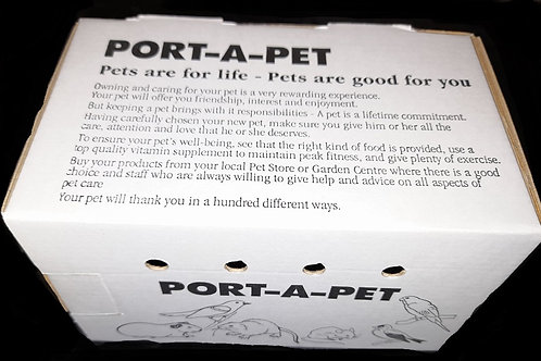 Port-a-Pet Cardboard Carrier 100x100x160mm