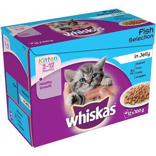 Whiskas Pouch Kitten Jelly 12 x 100g